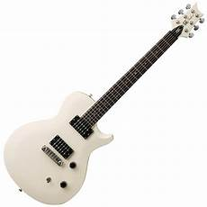 single cut guitar disc prs se singlecut electric guitar white with birds inlays at gear4music