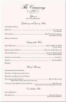 wedding programs wedding program wording program sles