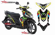 Modifikasi Motor Mio M3 by Modifikasi Yamaha Mio M3 Sunmoon Black