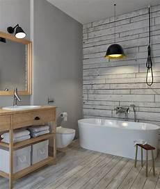 wandgestaltung badezimmer farbe spezielle farbe f 252 r bad in grau und tapete in holzoptik k 252 231 252 k banyolar badezimmer fliesen