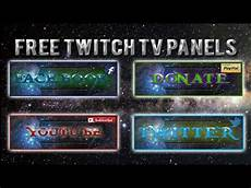 free pack tv free twitch tv panels buttons pack 2