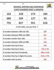 place value worksheets for grade 4 with answers 5391 free place value worksheets reading and writing 3 digit numbers