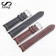 20mm 21mm 22mm Calf Leather by Sting 20mm 21mm 22mm Watchband Wear Resistant