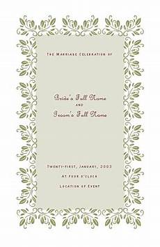 wedding program template for microsoft publisher wedding templates wedding invitation