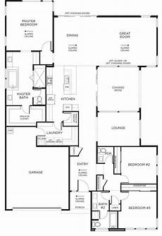single level house plans with courtyard montero floor plan 1 single story inspirada courtyard
