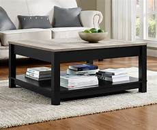 dorel carver black sonoma oak coffee table