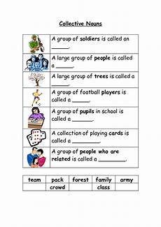 collective nouns 2 worksheet for 2nd 4th grade lesson planet