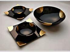awsome black marble dinner set   IDEAS4U