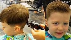 how to cut little boys hair with clippers scissors blending and cowlick instruction youtube