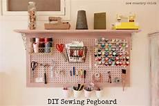 sewing room redo diy pegboard
