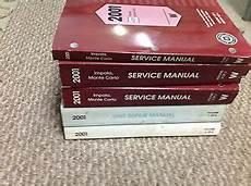 online car repair manuals free 1995 chevrolet impala user handbook 2001 chevy chevrolet impala monte carlo service shop repair manual set w unit bk ebay