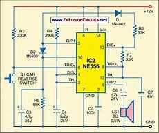 Car Reversing Horn With Flasher Circuit Diagram