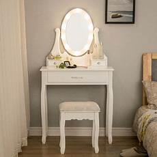schminktisch mit beleuchtung schminktisch mit led beleuchtung spiegel 1 schublade und