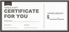 Dinner Gift Card Template Restaurant Gift Certificate Templates Wikidownload
