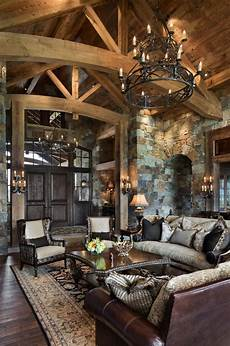 Interior Rustic Home Decor Ideas by Rustic Yet Refined Mountain Home Surrounded By Montana S
