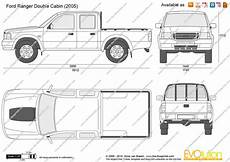 Ford Ranger Cabin Vector Drawing