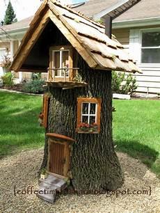 Gnome House Stump Garten Deko Zwergen Haus Und