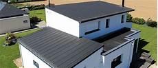 toit plat en zinc toit monopente zinc rev 234 tements modernes du toit