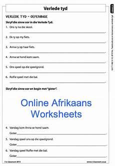 grade 5 online afrikaans worksheets verlede tyd for more
