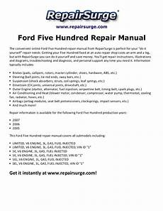online service manuals 2006 ford five hundred electronic valve timing ford five hundred repair manual 2005 2007