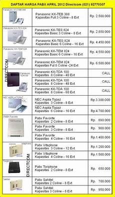 daftar harga pabx fax cctv