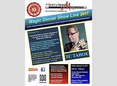 Magic Dinner Show Live 2017 Tickets, Fri, 13 Jan 2017 at 6