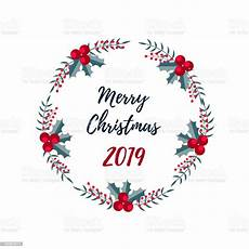 merry christmas banner christmas wreath merry christmas and happy new year 2019 greeting card