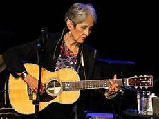 joan baez guitar of the protest song retreats from the front line but finds peace in on the margins