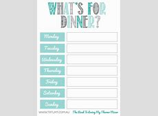 What's For Dinner 2 FB   Meal planner printable, Meal