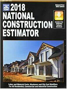 2017 national construction estimator pdf free national construction estimator 2018 includes free estimating software download 9781572183346