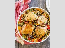 baked chicken with olives