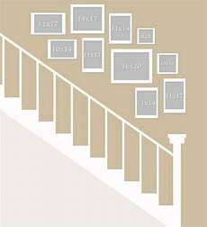 treppenhaus bilder aufhängen fotowand selber machen galeriewand layout bildw 228 nde und