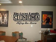 home theater decor cinema theatre customized sign home theater vinyl