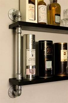 Regal Industrial Style - industrialstyle de whisky display temperguss rohr regal