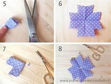 fiori in tessuto tutorial riciclo come fare i fiori con i cioni di tessuto
