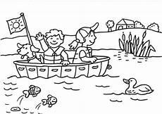 Schule Und Familie Ausmalbild Drucken Ausmalbild Sommer Bootsfahrt Kostenlos Ausdrucken