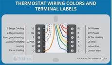 thermostat wiring colors to labels thermostat wiring wire baseboards