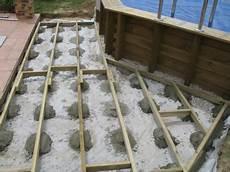 terrasse bois sur plot beton lambourde terrasse bois sur plot beton veranda styledevie fr