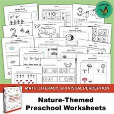 nature worksheets for nursery 15117 nature themed preschool worksheets math literacy and visual perception filled days