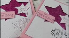 Ausgefallene Geburtstagskarten Selber Basteln - geburtstagskarte mit glitzerkarton pink selber basteln diy