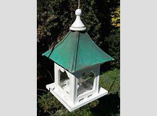 Hanging Copper Roof Bird Feeder Vinyl/PVC 10 lb. Hopper