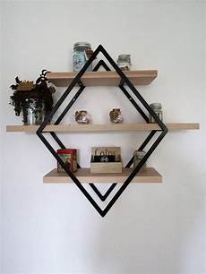 shelf style industrial iron and wood small model