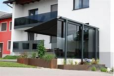 Freistehender Windschutz Aus Glas F 252 R Terrasse