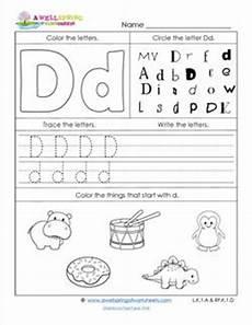 identifying letter d worksheets 24229 abc worksheets letter d alphabet worksheets a wellspring