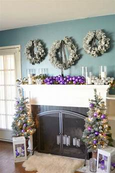 Purple And Gold Home Decor Ideas by Decorating In Purple An New Mantel