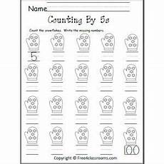 skip counting money worksheets 11954 count by 5s snowflakes with images counting in 5s preschool counting counting kindergarten