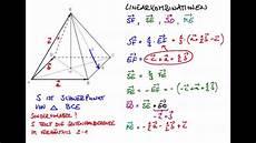 linearkombination vektoren in der pyramide