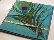 Peacock Feather Wedding Invitation
