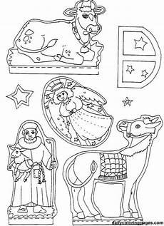 krippe diorama weihnachten malvorlagen 07 6811 32