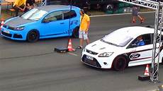 Focus Rs 1 4 Mile vw golf 6 r 32 vs ford focus rs 1 4 mile drag race